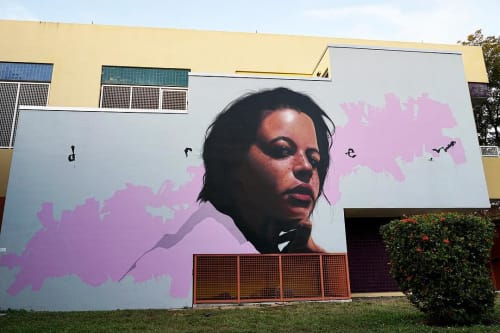 Murals by Drew Merritt seen at Santa Clara Elementary School, Miami - Gatsby Mural No. 1