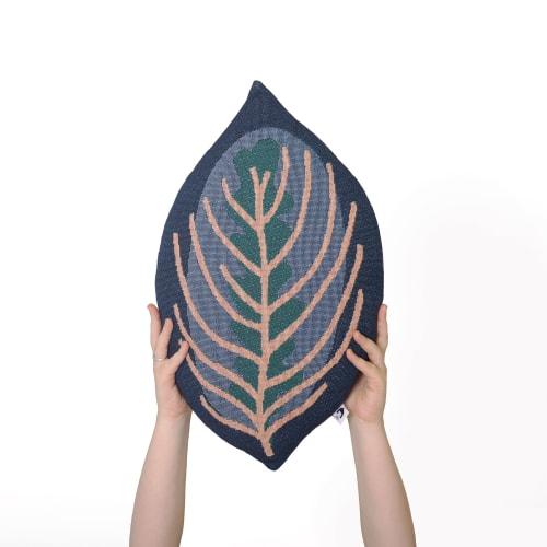 Pillows by Studio NAMA seen at Tel Aviv-Yafo, Tel Aviv-Yafo - GENESIS - Decorative Leaf Throw Pillow - Calathea