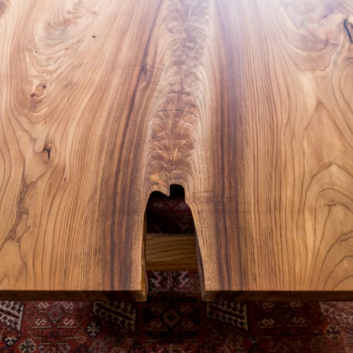 Tables by Evan Shively and Arborica seen at Private Residence, San Francisco - Custom Elm Coffee Table