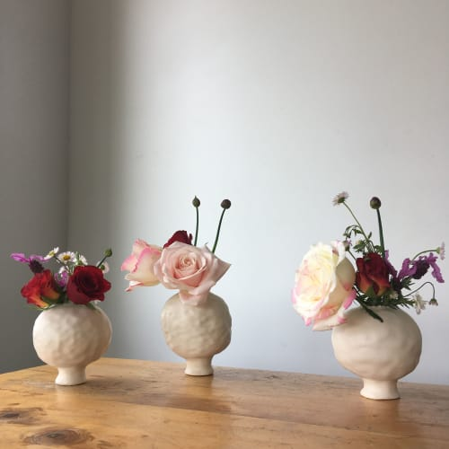 Vases & Vessels by Pip Woods Ceramics seen at Private Residence - Wellington, New Zealand, Wellington - Puffball Vases