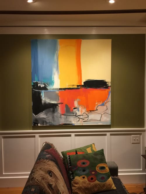 Paintings by Emilia Dubicki seen at Private Residence, New Haven - The Coast of There