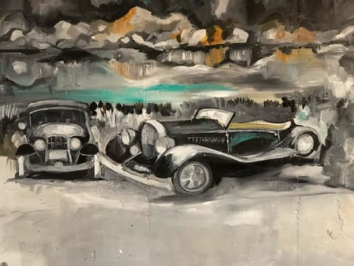 Murals by Gina Leon seen at 1954 Bellevue Ave, West Vancouver - Mural Art
