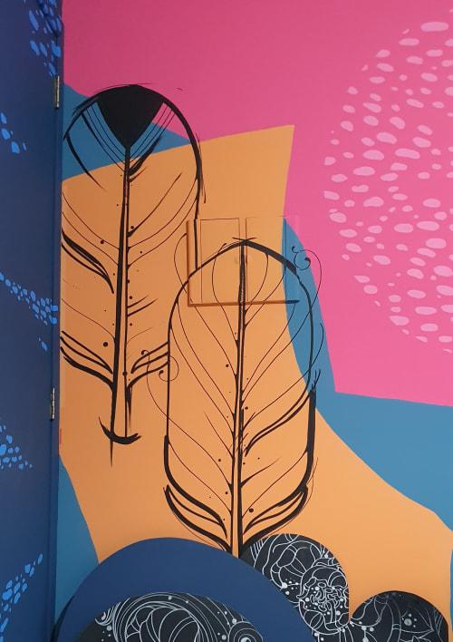Murals by Estúdio Pepper seen at Creator's Studio, Blumenau - My studio mural