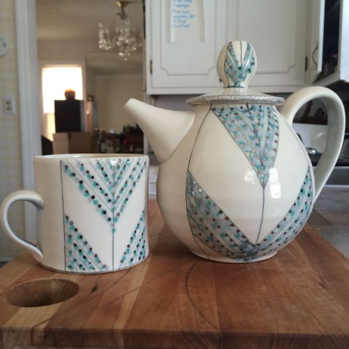 Tableware by Amy Halko Ceramics at Private Residence, Dallas - Tea set