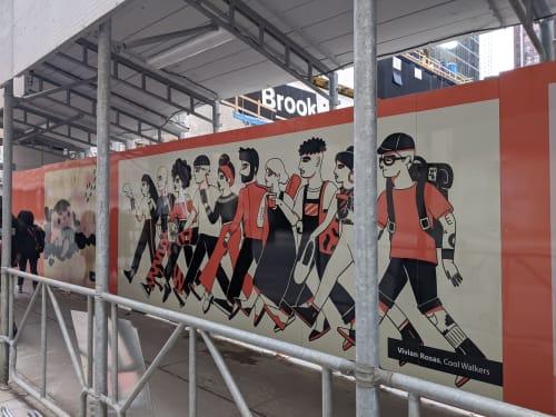 Public Art by Vivian Rosas seen at Toronto, Toronto - Cool Walkers