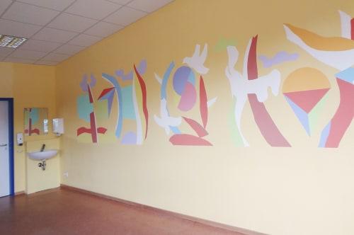 Murals by Darja Shatalova & Egor Shatalov seen at Gem. Grundschule Sieglar, Troisdorf - Mural Group room