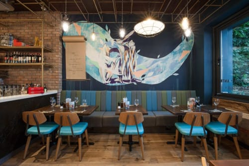Murals by Hannah Adamaszek seen at Zizzi, Hull - Zizzi Hull