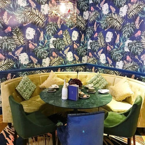 Wallpaper by BOBO1325 seen at Champagne Central, Glasgow - Key to Change