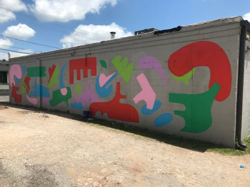 Street Murals by Holey Kids seen at 89th Street - OKC, Oklahoma City - Living At All Cost