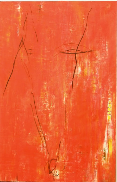 Paintings by Amadea Bailey seen at Private Residence, Venice, CA, Los Angeles - Dennis Hopper Installation (Red)
