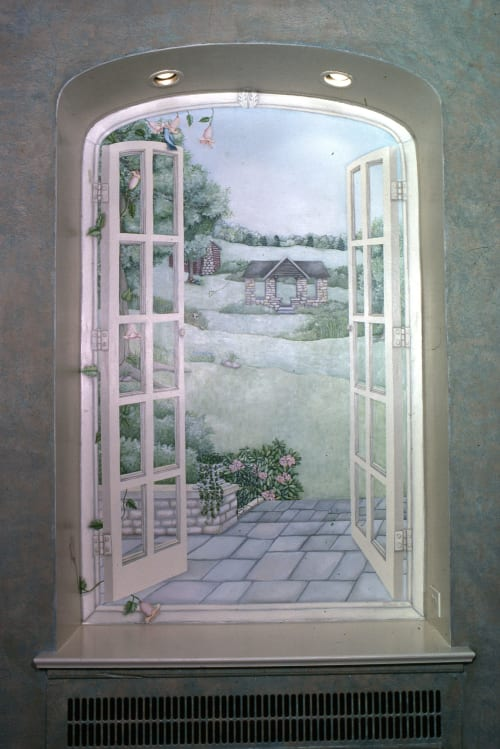 Murals by Beth Shadur seen at Private Residence, Evanston - Murals for private home