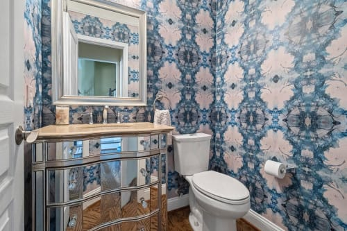 Wallpaper by Amanda M Moody seen at Private Residence, Charlotte - delft wallpaper