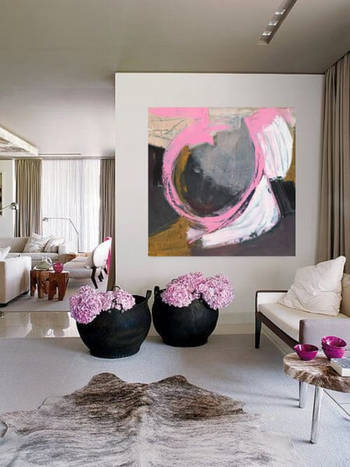 Paintings by Danielle Nelisse seen at Private Residence, Kihei - Whirlwind Painting