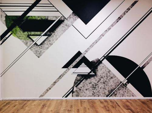 Murals by LAMKAT seen at Innova Showroom, Dallas - Innova Showroom