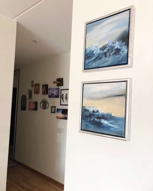 Paintings by Anna De Matos seen at Private Residence, Stockholm - Tarifa and Gibraltar
