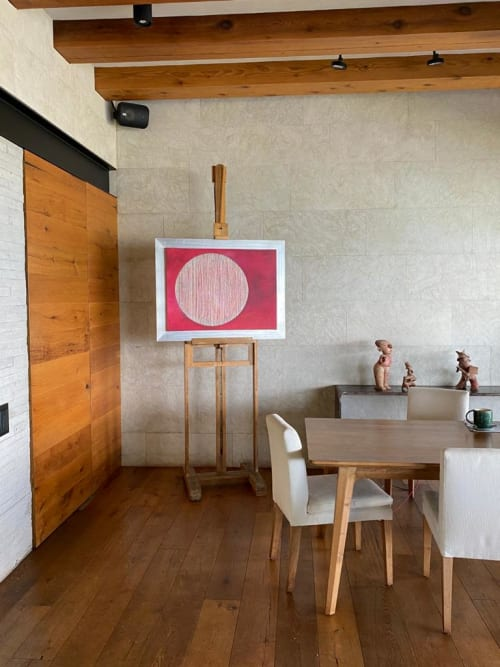 Paintings by Laila Vazquez seen at Private Residence, Valle de Bravo - Silver World
