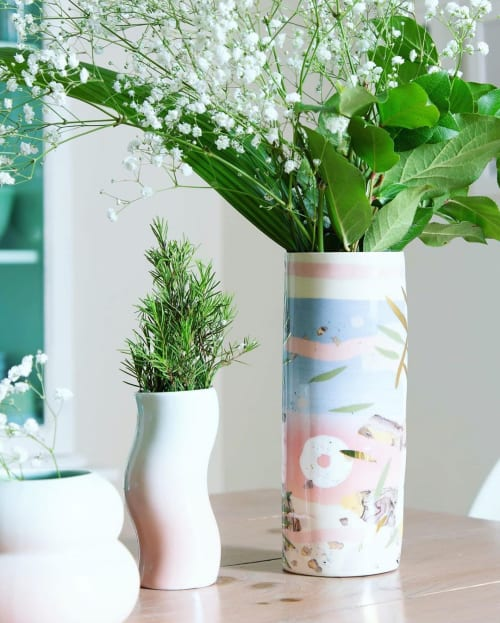 Vases & Vessels by Marina Lespérance Lopez seen at Private Residence, Montreal - Nerikomi Vase