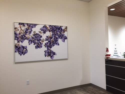Paintings by Jackie Battenfield seen at Kaiser Permanente Oakland Medical Center, Oakland - Moon Glow, 2015