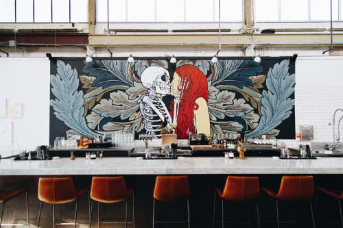 Murals by iMPuLSe Creative seen at Norseman Distillery, Minneapolis - Interior Mural