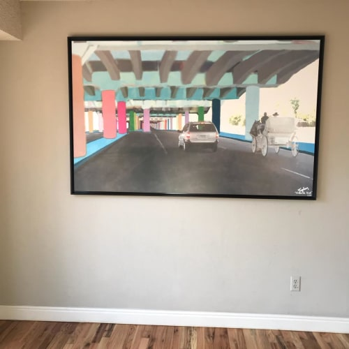 Paintings by Topher Straus seen at Private Residence, Golden - Car and Horse Carriage piece