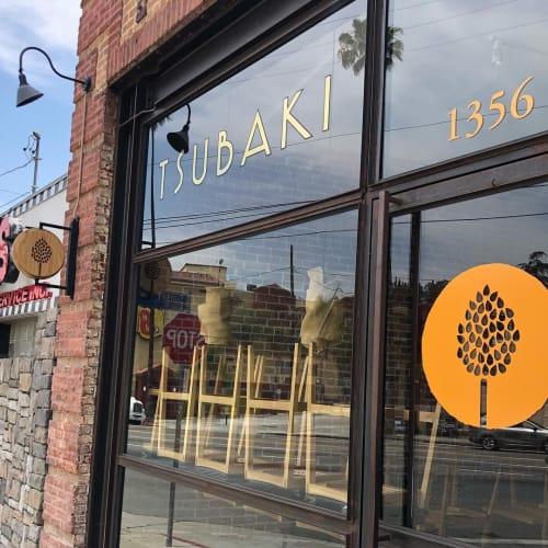 Signage by Weekends seen at Tsubaki, Los Angeles - Tsubaki Sign