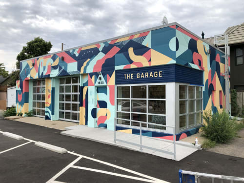 Street Murals by The Made Shop at 3830 W 32nd Ave, Denver - The Garage
