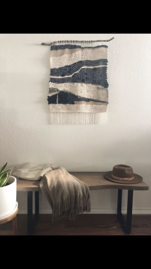 Wall Hangings by Mpwovenn by Mindy Pantuso seen at Private Residence, San Antonio - SOLD Woven Wall Hanging Tapestry