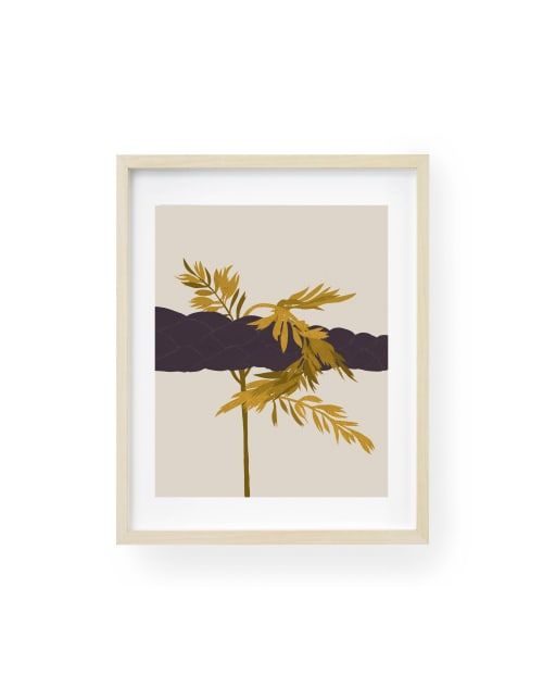 Paintings by Birdsong Prints seen at Creator's Studio, Denver - Abstract Botanical Print