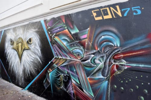 Street Murals by Max Ehrman (Eon75) seen at Mission District, San Francisco, San Francisco - ImissAmerica