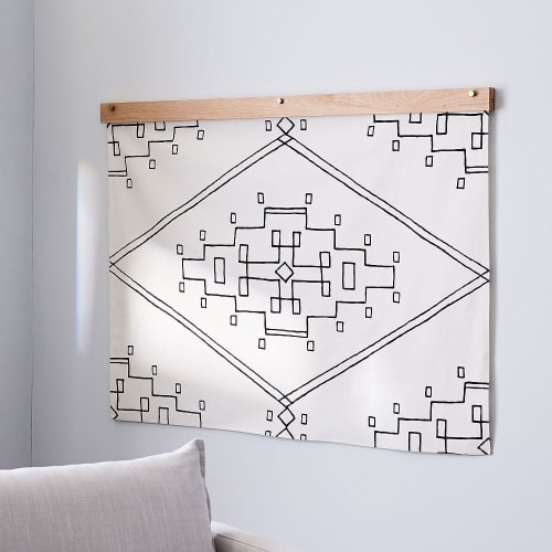 Nevada   Hand Screen-Printed Cotton Tapestry   Wall Hangings by Little Korboose