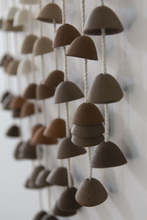 Wall Hangings by Kristina Kotlier seen at Creator's Studio, Los Angeles - Ceramic Bells