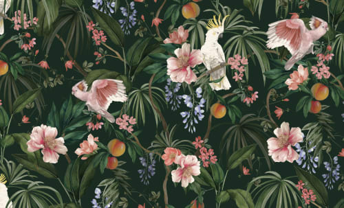 Wallpaper by Karen Brotherton seen at Private Residence, London - Eden Print Wallpaper