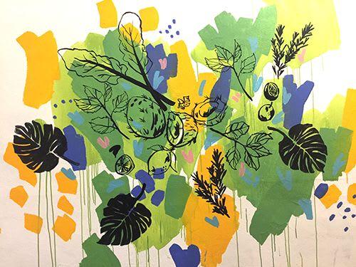 Bulletin Bar Mural | Murals by Rebecca Wetzler