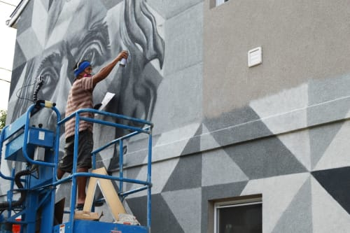 Murals by Jahru seen at Annapolis, Annapolis - Presidents Hill Mural Project