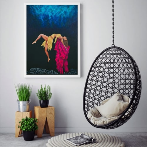 """Paintings by Athina Janice Artwork seen at Private Residence, Mumbai - """"FREEDOM""""- 2019"""