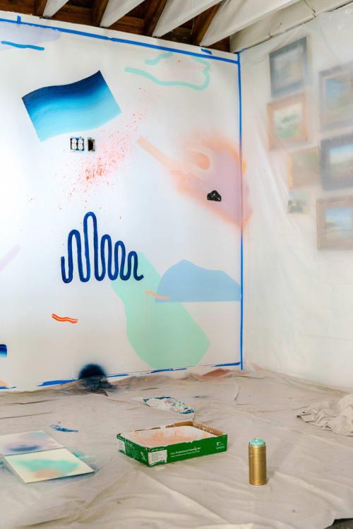 Murals by Devon Walz seen at Laguna Beach, Laguna Beach - Steps to Sand Mural
