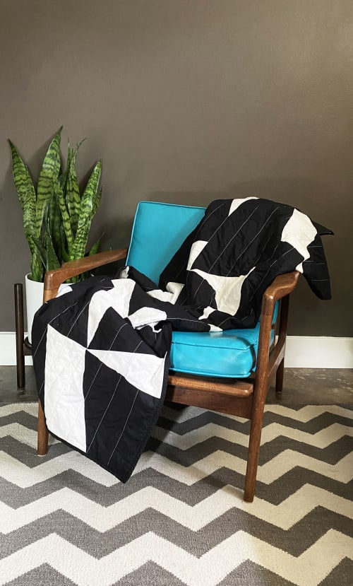 Linens & Bedding by Studio Prismatic seen at Creator's Studio, Portland - Pieces of Light Quilt in 100% Organic Cotton - Black