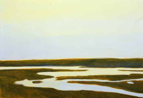 Paintings by Susan Hall seen at Oliveto, Oakland - Estero
