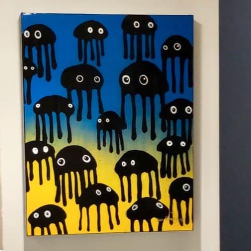 Paintings by Elliott C Nathan seen at Private Residence, Los Angeles - Custom Jellies