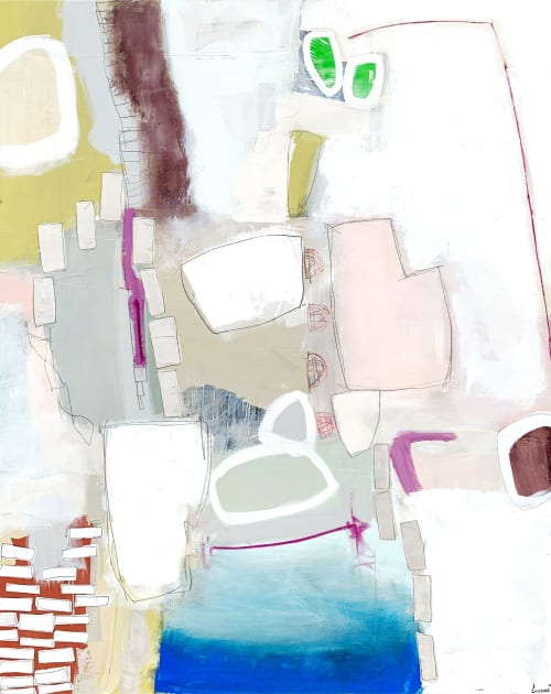 Paintings by Glenna Adkins seen at Private Residence, Des Moines - Abstract Painting