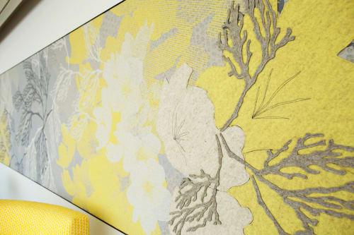 Wall Treatments by Jill Malek Wallpaper at Brooklyn Botanic Garden, Brooklyn - Yellow Magnolia Cafe Custom Mural