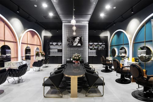 Interior Design by Studio Hiyaku seen at Stockland Wetherill Park Shopping Centre, Wetherill Park - Clean Cut Hair