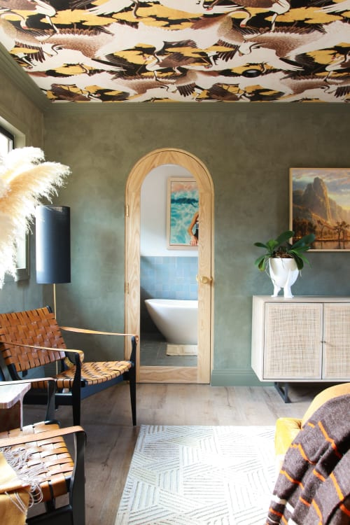 Tiles by Zia Tile seen at Private Residence, Sonoma - Skylight Moroccan Zellige