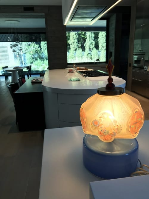 Lamps by Jess Wainer at Private Residence, Atherton - Parrot Lamp