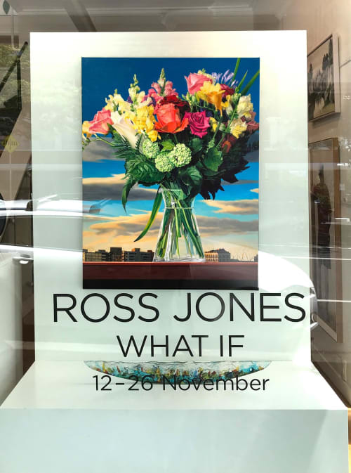 Paintings by ross jones seen at Private Residence, Auckland - Summer in a Vase