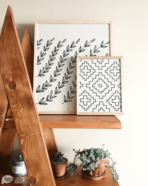 Wall Hangings by Little Korboose - Vines   Framed Textile