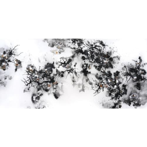 Paintings by Xiaojing Yan seen at Private Residence, Toronto - Naturally Nature
