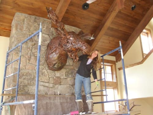 Sculptures by KIRSTEN KAINZ seen at Yellowstone Club - Marlin Perkins Moose