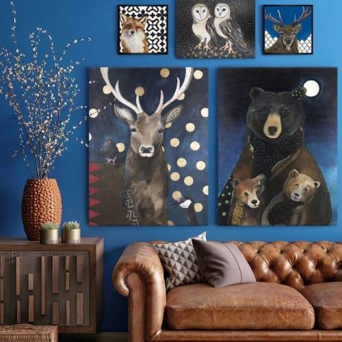 Paintings by Emily Reid seen at GreenBox Art + Culture, San Diego - Animal Paintings