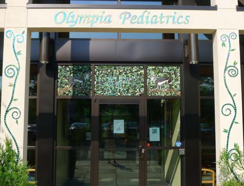 Art & Wall Decor by JK Mosaic, LLC seen at Olympia Pediatrics PLLC, Olympia - Mosaic Entryway